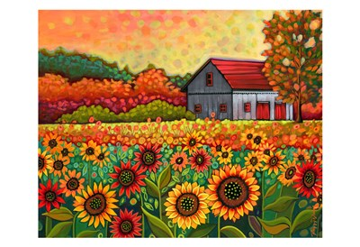 A Bright Sunflower Day art print by Peggy Davis for $20.00 CAD