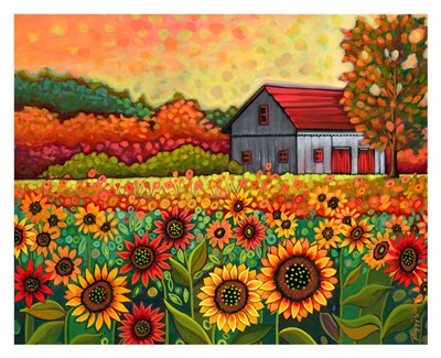 A Bright Sunflower Day art print by Peggy Davis for $60.00 CAD