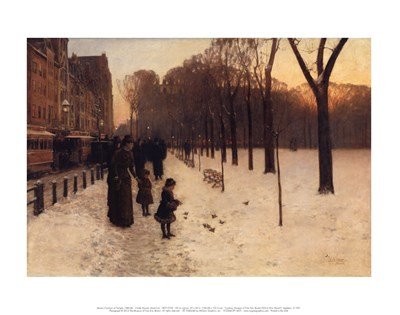 Boston Common at Twilight, 1885-86 art print by Childe Hassam for $16.25 CAD