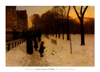 Boston Common at Twilight, 1885-86 art print by Childe Hassam for $60.00 CAD