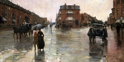 Rainy Day, Boston, 1885 art print by Childe Hassam for $60.00 CAD