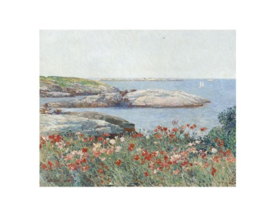 Poppies, Isles of Shoals, 1891 art print by Childe Hassam for $16.25 CAD