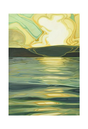 Sun-Kissed Waves II art print by Erica Hawkes for $20.00 CAD