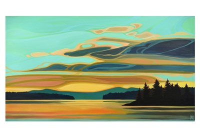 Cobalt Coast art print by Erica Hawkes for $20.00 CAD