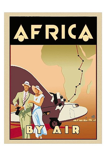Africa by Air art print by Brian James for $20.00 CAD