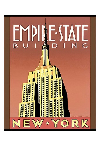 Empire State Building art print by Brian James for $20.00 CAD