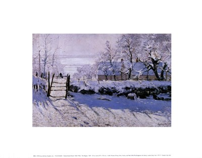 The Magpie art print by Claude Monet for $16.25 CAD