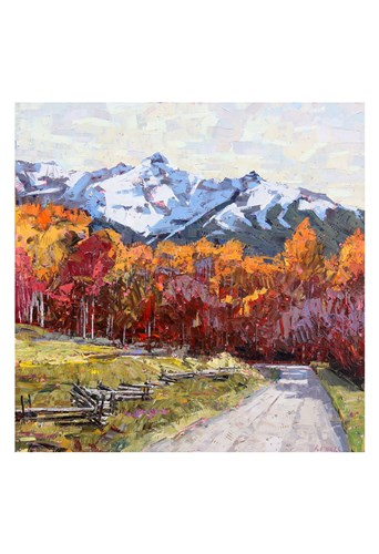 Rocky Mountain Road art print by Robert Moore for $20.00 CAD