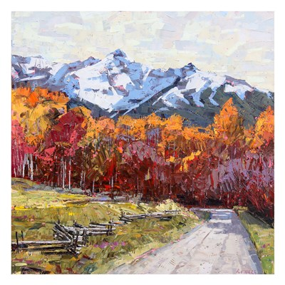 Rocky Mountain Road art print by Robert Moore for $60.00 CAD