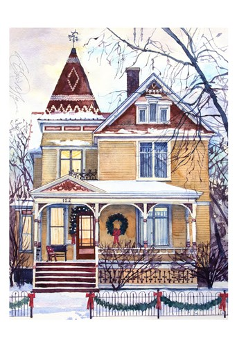 Victorian Christmas art print by Stan Myers for $20.00 CAD