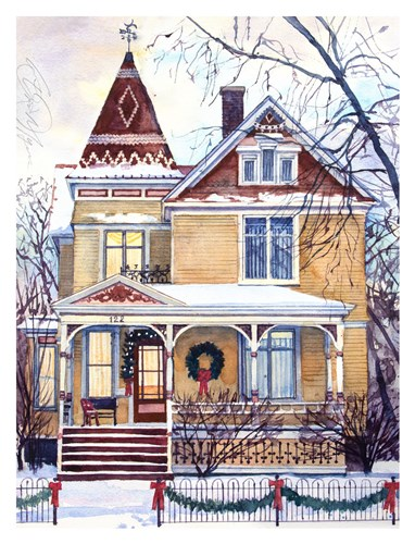 Victorian Christmas art print by Stan Myers for $60.00 CAD