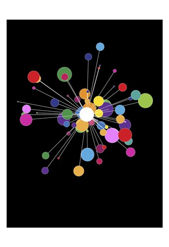 Molecular art print by Simon C. Page for $20.00 CAD