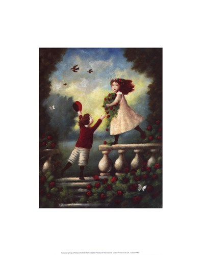 Children Playing: Garland art print by Stephen Mackey for $11.25 CAD