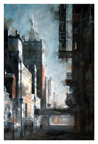 West 23rd Street, Hotel Chelsea art print by Tim Saternow for $20.00 CAD