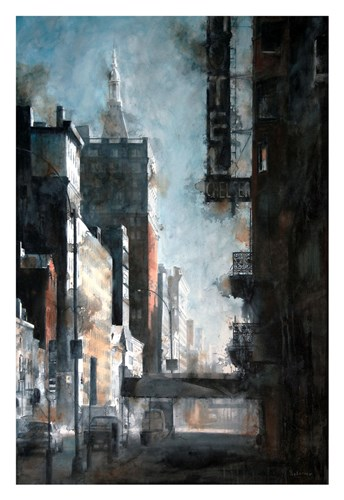 West 23rd Street, Hotel Chelsea art print by Tim Saternow for $60.00 CAD