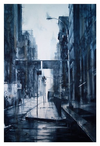 Lower Broadway, rain art print by Tim Saternow for $20.00 CAD