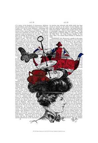British Afternoon Tea Hat art print by Fab Funky for $20.00 CAD
