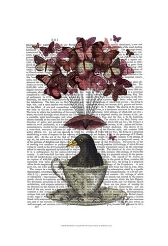 Blackbird In Teacup art print by Fab Funky for $20.00 CAD