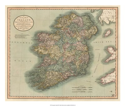 Vintage Map of Ireland art print by John Cary for $75.00 CAD