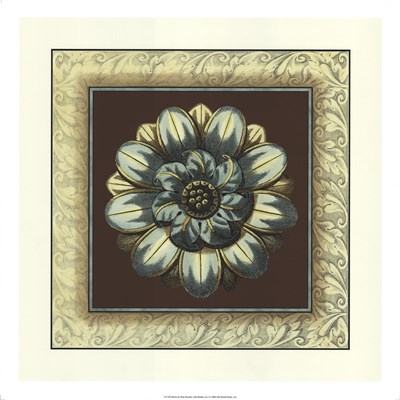 Brown & Blue Rosettes I brown art print by Vision Studio for $43.75 CAD