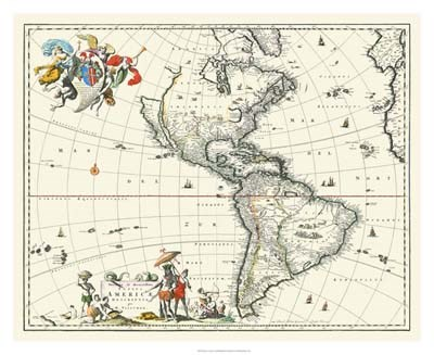 Map of America art print by Unknown for $127.50 CAD