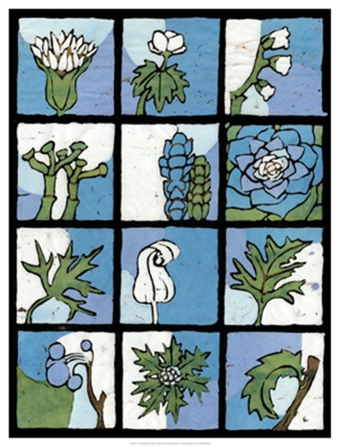 Asure Botanical II 12-Patch art print by Andrea Davis for $62.50 CAD