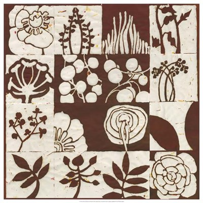Brown Botanical 16-Patch art print by Andrea Davis for $106.25 CAD