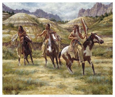 Warriors of the Badlands art print by James Ayers for $75.00 CAD