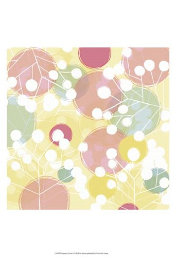 Popping Flowers I art print by Ali Benyon for $21.25 CAD