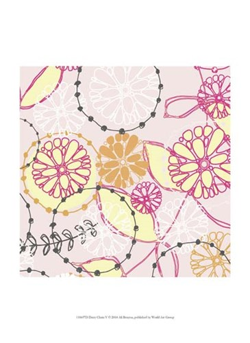 Daisy Chain V art print by Ali Benyon for $13.75 CAD