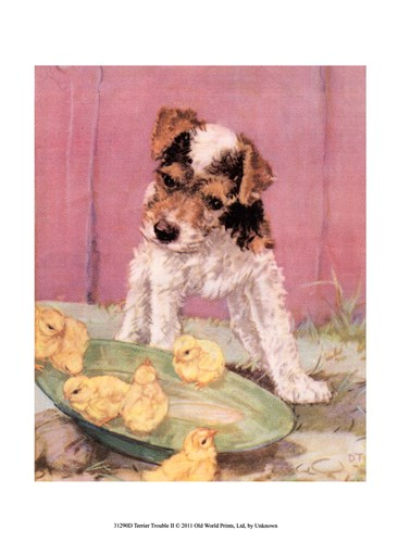 Terrier Trouble II art print by Unknown for $13.75 CAD