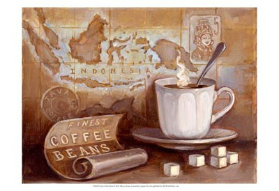 Finest Coffee Beans art print by Theresa Kasun for $21.25 CAD