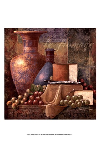 Cheese & Grapes I art print by Janet Stever for $21.25 CAD