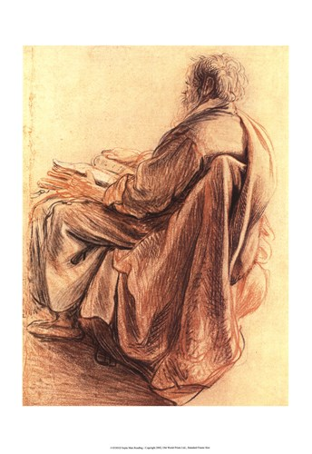 Sepia Man Reading art print by Rembrandt van Rijn for $27.50 CAD