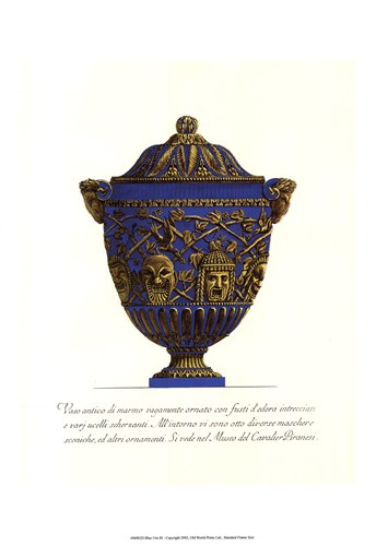 Blue Urn III art print by Baptista for $27.50 CAD