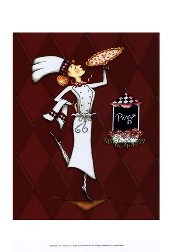 Miss Pizza art print by Sydney Wright for $21.25 CAD