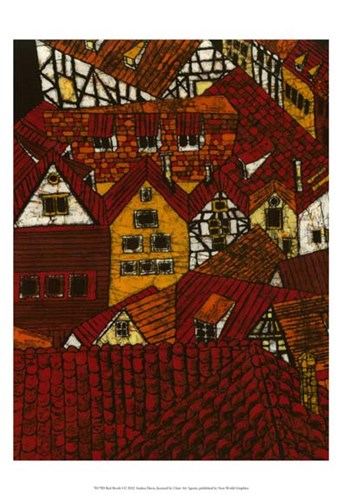 Red Roofs I art print by Andrea Davis for $21.25 CAD