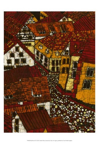 Red Roofs II art print by Andrea Davis for $21.25 CAD