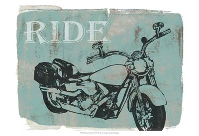 Motorcycle Ride I art print by Jennifer Goldberger for $21.25 CAD