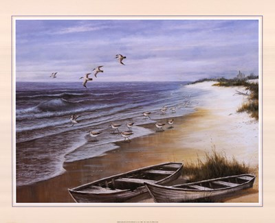Two Rowboats on Beach art print by T.C. Chiu for $25.00 CAD