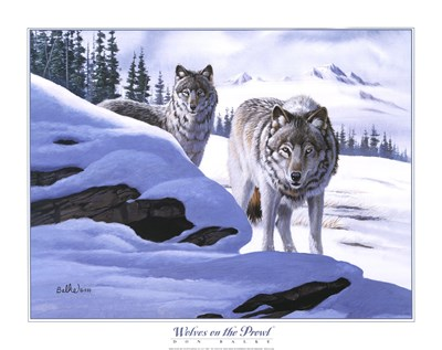 Wolves on the Prowl art print by Don Balke for $25.00 CAD