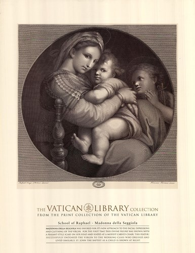 Madonna of the Chair, c.1514, (The Vatican Collection) art print by Raphael for $18.75 CAD