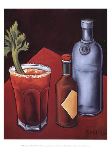 Bloody Mary art print by Will Rafuse for $13.75 CAD