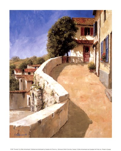 Provence art print by Gilles Archambault for $10.00 CAD