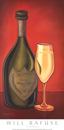 Champagne art print by Will Rafuse for $21.25 CAD