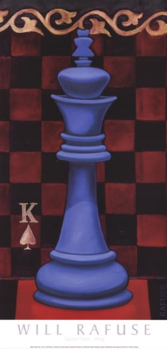 Game Piece - King art print by Will Rafuse for $21.25 CAD