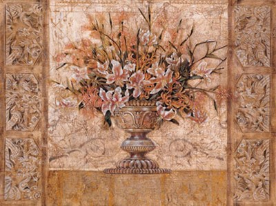 Floral Tapestry (gold foil) art print by Richard Hall for $116.25 CAD