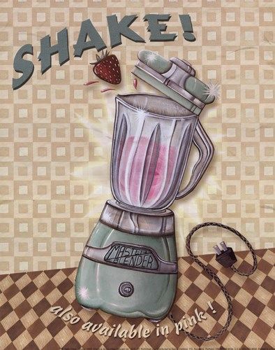 Nifty Fifties - Shake art print by Charlene Audrey for $10.00 CAD