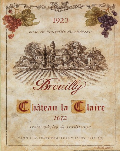 Brouilly art print by Pamela Gladding for $10.00 CAD