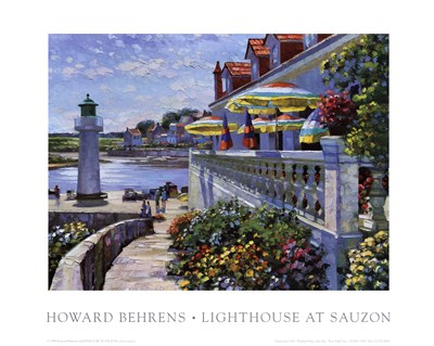 Lighthouse At Sauzon art print by Howard Behrens for $16.25 CAD